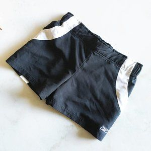 Reebok black & white athletic gym shorts with pockets, size small